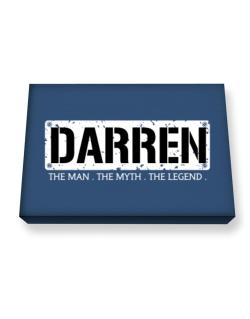 Darren : The Man - The Myth - The Legend Canvas square
