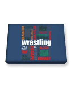 Wrestling Words Canvas square