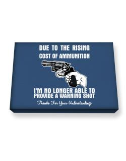 Warning shot Canvas square