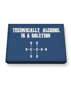 Alcohol is a solution Canvas square