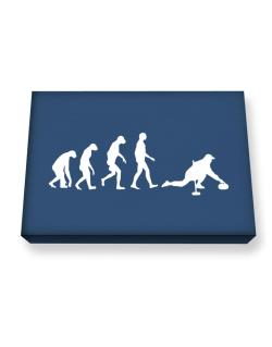 Curling Evolution Canvas square