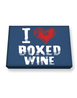 I love boxed wine Canvas square