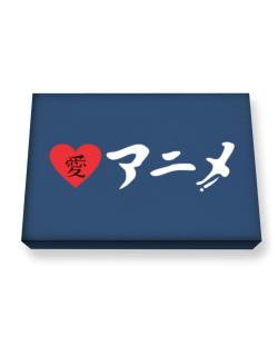 I Love Anime in Japanese Ladies Canvas square