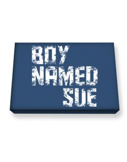 Boy Named Sue Canvas square