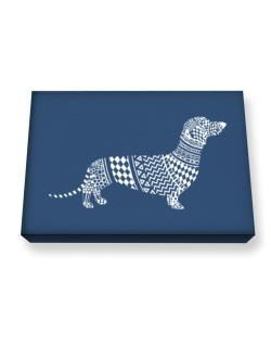 Dachshund Artistic Canvas square