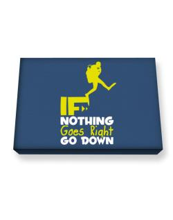 If nothing goes right go down scuba diving Canvas square