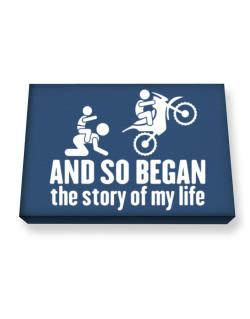 And so began the story of my life motocross Canvas square