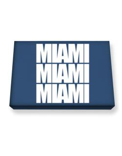 Miami three words Canvas square