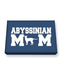 Abyssinian mom Canvas square