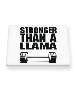 Stronger Than A Llama Canvas square