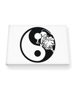 Yin Yang Leo Canvas square