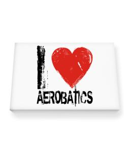 I Love Aerobatics Canvas square