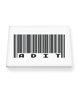 Bar Code Adit Canvas square