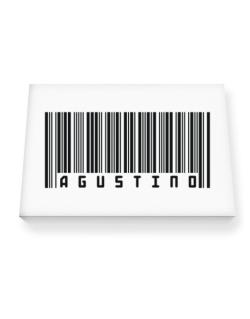 Bar Code Agustino Canvas square