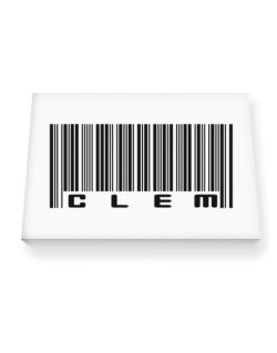 Bar Code Clem Canvas square