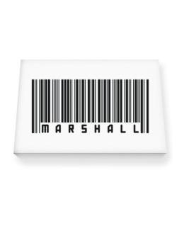 Bar Code Marshall Canvas square