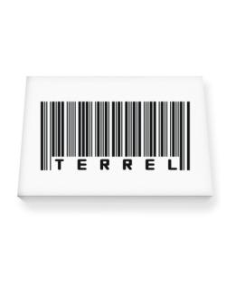 Bar Code Terrel Canvas square