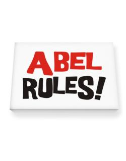 Abel Rules! Canvas square
