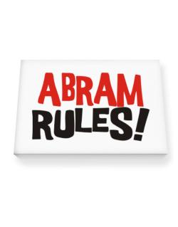 Abram Rules! Canvas square