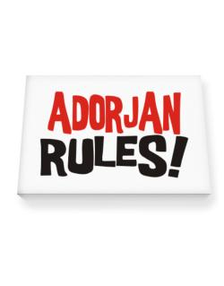 Adorjan Rules! Canvas square