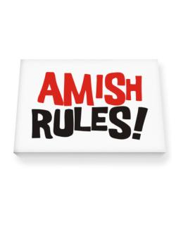 Amish Rules! Canvas square