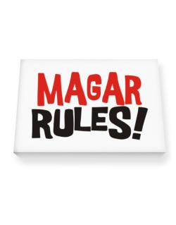 Magar Rules! Canvas square