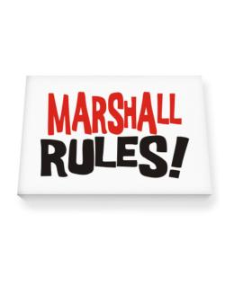 Marshall Rules! Canvas square