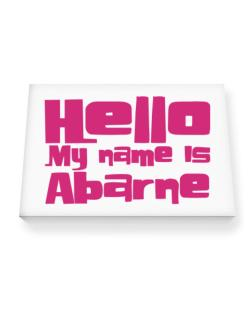 Hello My Name Is Abarne Canvas square