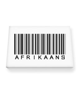 Afrikaans Barcode Canvas square