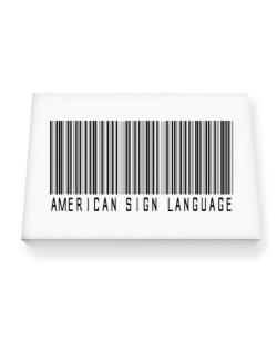 American Sign Language Barcode Canvas square