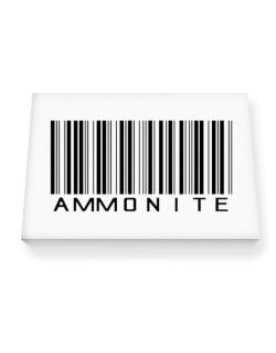 Ammonite Barcode Canvas square