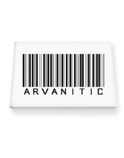 Arvanitic Barcode Canvas square