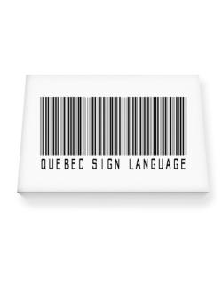 Quebec Sign Language Barcode Canvas square