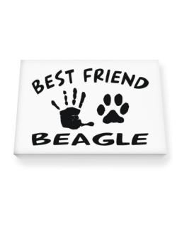 My Best Friend Is My Beagle Canvas square