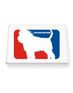 Affenpinscher Sports Logo  Canvas square