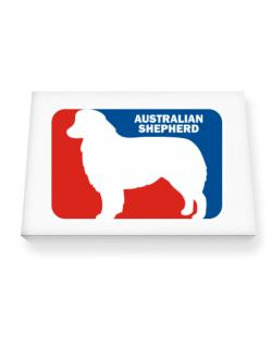 Australian Shepherd Sports Logo Canvas square