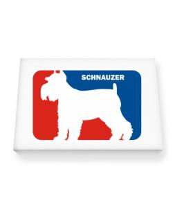 Schnauzer Sports Logo  Canvas square