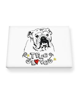 American Bulldog True Love Canvas square