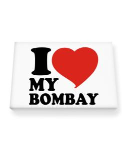 I Love My Bombay Canvas square