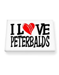 I Love Peterbalds - Scratched Heart Canvas square