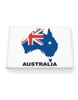 Australia - Country Map Color Canvas square