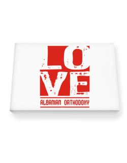 Love Albanian Orthodoxy Canvas square