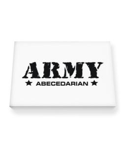 Army Abecedarian Canvas square