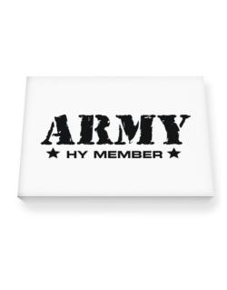 Army Hy Member Canvas square
