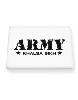Army Khalsa Sikh Canvas square