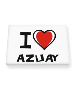 I Love Azuay Canvas square