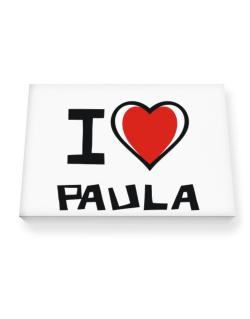 I Love Paula Canvas square