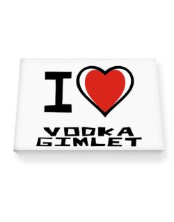I Love Vodka Gimlet Canvas square