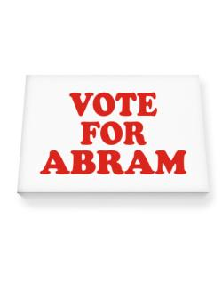 Vote For Abram Canvas square