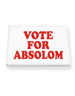 Vote For Absolom Canvas square